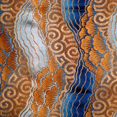French Art Deco silk brocade
