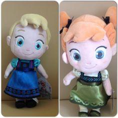 Anna and Elsa plush toddler dolls