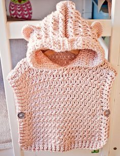 Crochet Pullover PATTERN Hooded Poncho Pullover sizes
