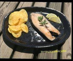 Salomone con patate croccanti