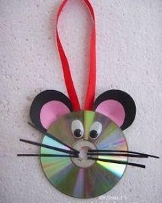 DIY CD Mouse Ornament