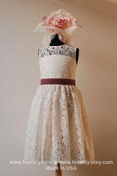 lace flower girl dress @Lauren Gardner