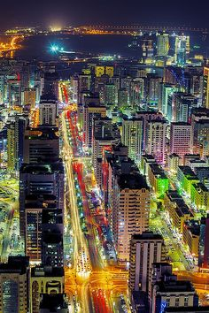 e4rthy:  Hamdan Street in Abu Dhabi by Beno Saradzic