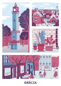 """""""Primavera als bars"""" by Andrés Lozano, via Behance"""