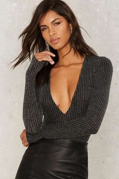 Love Bizarre Plunging Bodysuit | Shop Clothes at Nasty Gal!