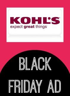 Kohl's Black Friday Ad 2013