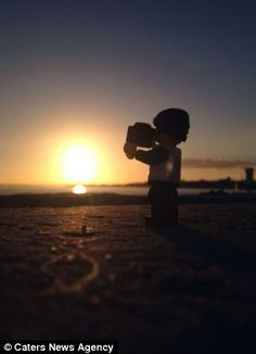 Tiny Lego tourist captures beauty of PORTSMOUTH as he is pictured ...