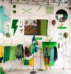 """Verde/ Benetton: el arte de tejer hace """"pop up"""" en NY  """