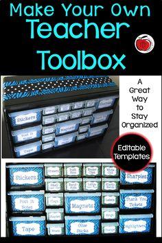 Creating a Teacher Toolbox Lesson Plan Organization, Classroom Organization, Classroom Management, Classroom Decor, Classroom Libraries, Behavior Management, Teacher Toolbox Labels, Teachers Toolbox, Teacher Tools