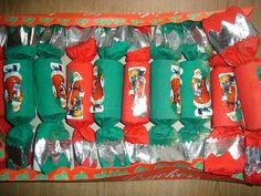 large box old vintage christmas crackers decorations tree ornaments