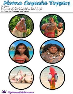 Free Moana Printable Activities & Party Supplies | SKGaleana