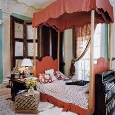 Cuarto de invitados, casa de Oscar de la Renta en Nueva York.