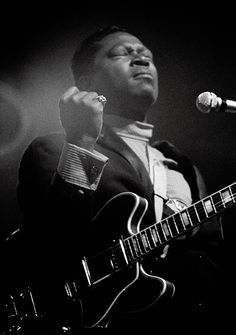 BB King (1968) by Dick Waterman.  Sadly, BB King died May 14, 2015 at the age of 89.  What a legend and musical genius!