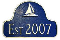Sailboat Arch Address Plaque Established