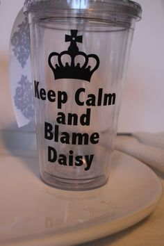 DOWNTON ABBEY insulated tumbler Keep Calm and Blame by TAMstyle, $12.50