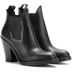 Acne Studios Star Leather Ankle Boots (8,760 MXN) ❤ liked on Polyvore featuring shoes, boots, ankle booties, heels, black, black bootie, black heel booties, heeled booties, leather ankle boots and black booties