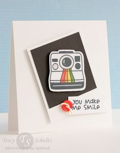 Smile by Tracy Schultz- stamps & dies from Paper Smooches; Spectrum Noirs; Divine Twine