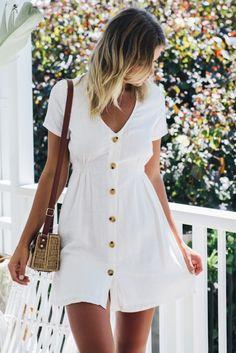 ababc6c8cbf7a Light Loving Dress - White Linen - Stelly