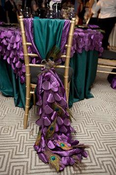 Peacock Wedding Chairs