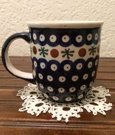 Polish Pottery Coffee Mug by MimisMiniMarketplace on Etsy