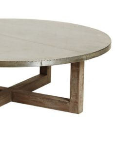 Argo Coffee Table with Zinc Top - Round – Allissias Attic & Vintage French Style