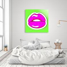 Kiss Me. #popart #buyart #homedecor #retroart #curioos #beebeedeigner