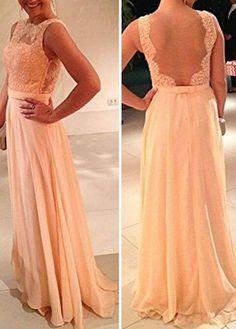 Gorgeous Lace and Chiffon High Waist Sleeveless Pink Dress