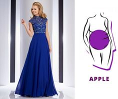 Clarisse 2819 - perfect prom dress for every body type ropa de tallas grand Dance Dresses, Prom Dresses, Formal Dresses, Necklace For Neckline, Apple Shape Fashion, Dresses For Apple Shape, Clothes For Women Over 50, Perfect Prom Dress, Kurta Designs