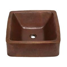 The Cubeta Copper Vessel Sink by SoLuna has a sturdy double-wall construction.