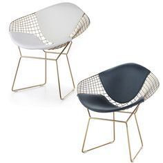 The Golden wire diamond shaped chair is not only sturdy and versatile but its also very comfortable with its unique bent and welded steel rod construction.