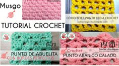4 Puntadas a Crochet explicadas paso a paso Filet Crochet, Crochet Gratis, Irish Crochet, Crochet Shawl, Knit Crochet, Tapestry Crochet Patterns, Crochet Stitches Patterns, Stitch Patterns, Crochet Market Bag