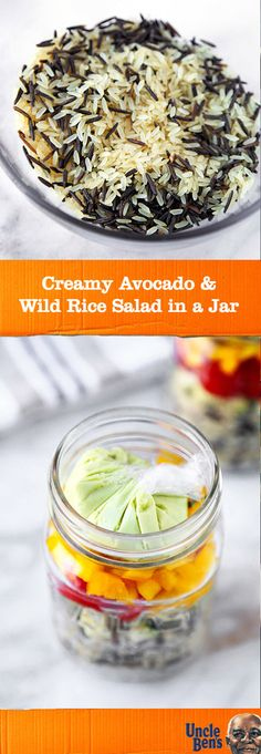 We're not kidding when we say that this recipe for Creamy Avocado and Wild Rice Salad in a Jar is ready in just 15 minutes. All you need to whip up this on-the-go lunch idea is zucchini, cherry tomatoes, bell peppers, UNCLE BEN'S® Long Grain & Wild Original Recipe, and homemade dressing. Find everything you need to make this flavorful fresh and healthy recipe at Target.