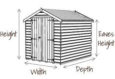Hartwood x Double Door Overlap Pressure Treated Apex Shed