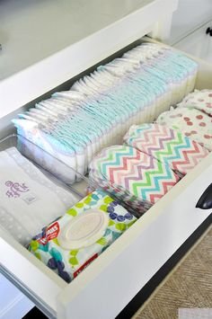 IHeart Organizing: UHeart Organizing: Sanity Saving Home Stations - Diaper Organization