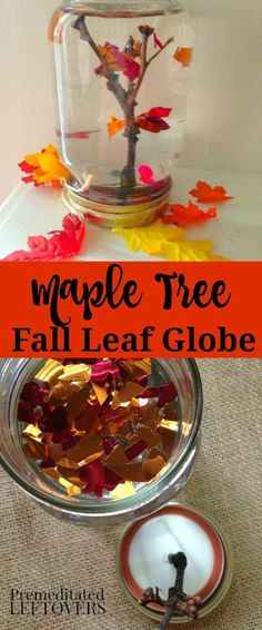 Maple Tree Fall Leaf Snow Globe Craft for Kids - How to Make a Maple Tree Leaf…                                                                                                                                                                                 More