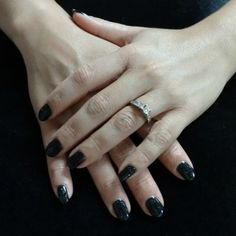Shellac Overtly Onyx + Mother of Pearl. www.nailady.com