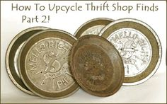 How To Upcycle Thrift Shop Finds Into Trendy Home Decor: Part Two!