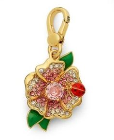 Juicy Couture Flower with Ladybug Charm. One of my Charms. :-)