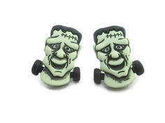 Women's Earrings Ladies Halloween Earrings Children Silly Kids Earring Frankenstein Earrings Geekery Plastic Earrings Jewelry Earrings
