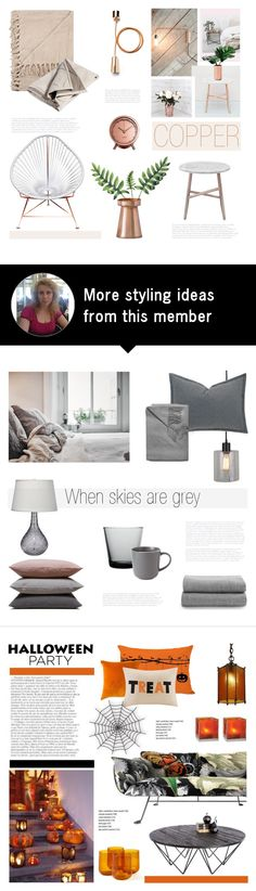 """""""Copper mood"""" by helenevlacho on Polyvore featuring interior, interiors, interior design, home, home decor, interior decorating, Iacoli & McAllister, Conran, Dot & Bo and bedroom"""