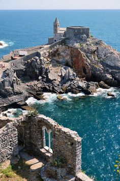 The Church of St. Peter is a Roman Catholic church in Lazzaro Spallanzani, Portovenere, Italy, in the Gulf of Poets in the province of La Spezia. It was officially consecrated in 1198. The part in white and black bands dating from the thirteenth century (probably made between 1256 and 1277), and was restored between 1931 and 1935. This part was derived from an older body, which consists of the early church, but left the bell tower is based on the chapel left of the presbytery.