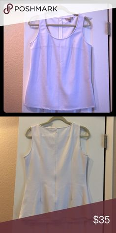 Banana Republic faux leather top Amazing condition. Only worn once. Zip up back. Banana Republic Tops Tank Tops