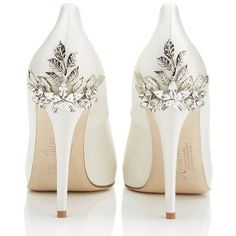 Ornate Bridal Shoes by Harriet Wilde ❤ liked on Polyvore featuring shoes, wedding shoes, bridal shoes, harriet wilde, harriet wilde shoes and evening shoes