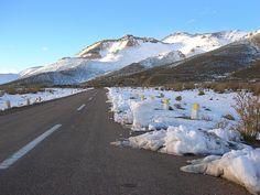 Ruta a Las Leñas, en invierno