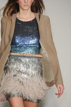 Matthew Williamson Fall/Winter 2011. #feather #sequin #dress