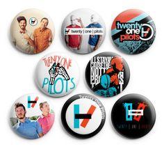 "Twenty One Pilots Pin Badge Buttons 1.25"" Pinback 8pcs A Daughter's Love http://www.amazon.com/dp/B00HU5PJP4/ref=cm_sw_r_pi_dp_B5CQub06RBB61"