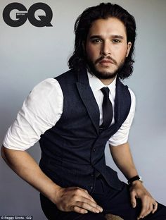 Letting down his guard: Kit Harington speaks candidly in a new interview in the January issue of British GQ