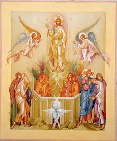 The Ascension of The Lord / by George Kordis Byzantine Icons, Byzantine Art, Religious Icons, Religious Art, Faith Of Our Fathers, Church Icon, Pictures Of Jesus Christ, Saints And Sinners, Christian Symbols
