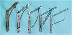 Steel Shelf Brackets - for really high shelves around studio