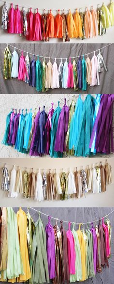 Tassel Garlands Multiple Colors For Any Decor Office Decor Deco Ballon, Decoration Evenementielle, Wedding Decoration, Do It Yourself Decoration, Tassel Garland, Garlands, Baby Shower, Bridal Shower, Ideas Para Fiestas